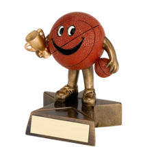 "Basketball Trophy - 4"" Resin Happy Basketball Trophy"