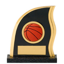 "Basketball Trophy - 5"" Resin Flame Basketball Trophy"