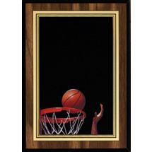 Basketball Plaque with Basketball Image