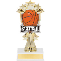 Basketball Trophy - Basketball and Stars Trophy