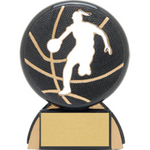 Basketball Trophy - Female Basketball Shadow Resin Award