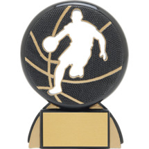 "Basketball Trophy - 4 1/2"" Male Basketball Shadow Resin Award"