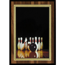 Bowling Plaque with Bowling Image