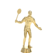 Male Badminton Gold Trophy Figure