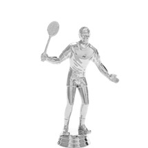 Badminton Male Silver Trophy Figure
