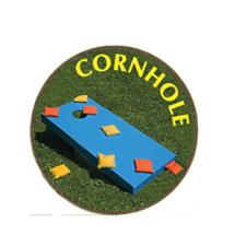 Cornhole Blue Board Emblem
