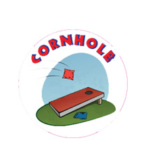Cornhole Red Board Emblem