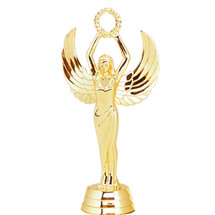 Female Achievement Gold Trophy Figure
