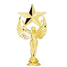 Female Achievement Star Gold Trophy Figure