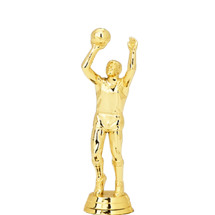 Male Basketball Center Gold Trophy Figure