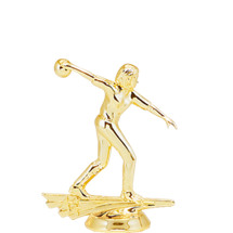 Female All Star Bowler Gold Trophy Figure