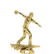 Male All Star Bowler Gold Trophy Figure