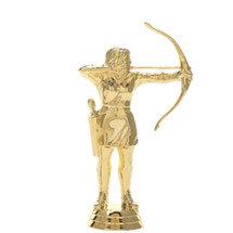 Female Archer Gold Trophy Figure