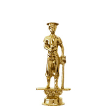 Male Baseball Graduate Gold Trophy Figure