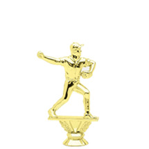 Male Baseball Pitcher Gold Trophy Figure