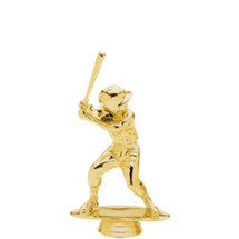 Male Baseball Tyke/Youth Gold Trophy Figure