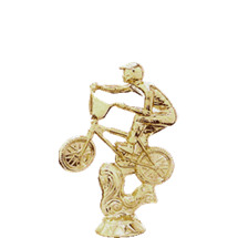 BMX Action Bike Gold Trophy Figure