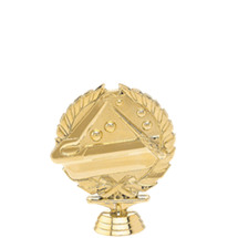 3d Billiards Gold Trophy Figure