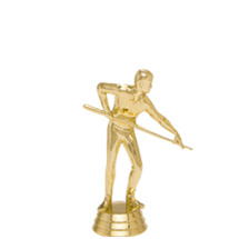 Male Billiard Player Gold Trophy Figure