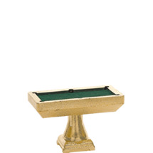 Billiard Table Gold Trophy Figure