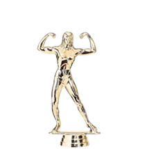 Female Body Builder Gold Trophy Figure
