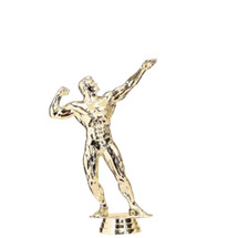 Male Body Builder Gold Trophy Figure