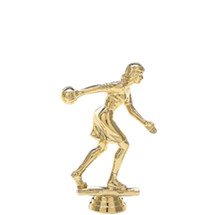 Female Candlepin/Duckpin Bowler Gold Trophy Figure