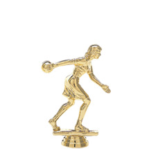 Female Ten Pin Bowler Gold Trophy Figure