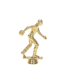 Male Ten Pin Bowler Gold Trophy Figure