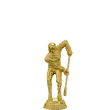 Female Broom Ball Gold Trophy Figure