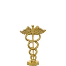 Caduceus Gold Trophy Figure