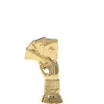 Cribbage Hand Gold Trophy Figure