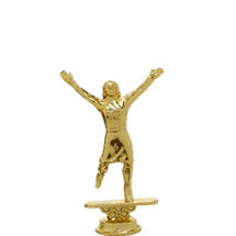 Female Cheerleader Gold Trophy Figure