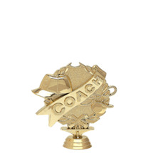 3d Coach Gold Trophy Figure