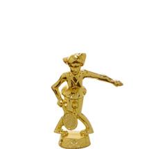 Female Comic Tennis Gold Trophy Figure