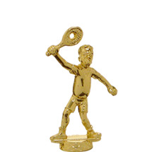 Male Comic Tennis Gold Trophy Figure