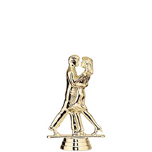 Modern Dance Couple Gold Trophy Figure
