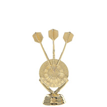 Dart Board Gold Trophy Figure