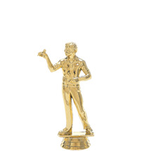 Male Dart Thrower Overhand Gold Trophy Figure