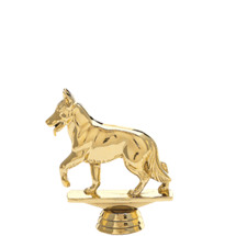 Alsatian Dog Gold Trophy Figure