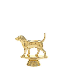 Beagle Dog Gold Trophy Figure