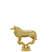 Collie Dog Gold Trophy Figure