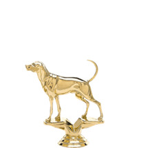 Coohound Dog Gold Trophy Figure