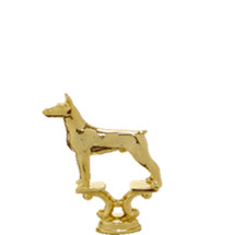 Doberman Dog Gold Trophy Figure