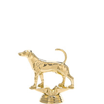 Foxhound Dog Gold Trophy Figure