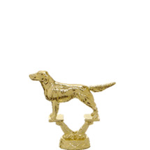 Irish Setter Dog Gold Trophy Figure