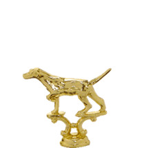 Pointer Field Position Dog Gold Trophy Figure