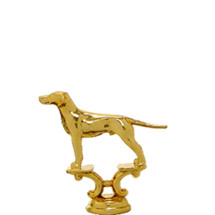 Pointer Dog Gold Trophy Figure