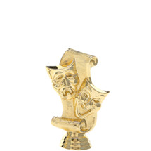 Drama Mask Gold Trophy Figure