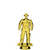 Firefighter Turn Out Gear Gold Trophy Figure